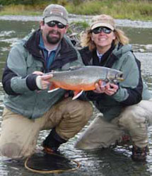 Dolly Varden Char with Advantage Angling